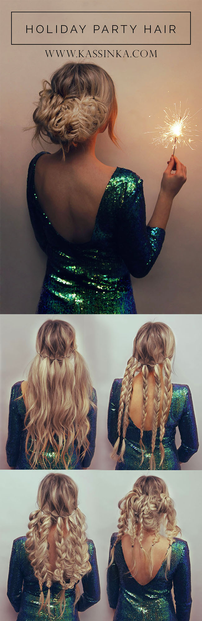 Kassinka Holiday Pary Hair Tutorial