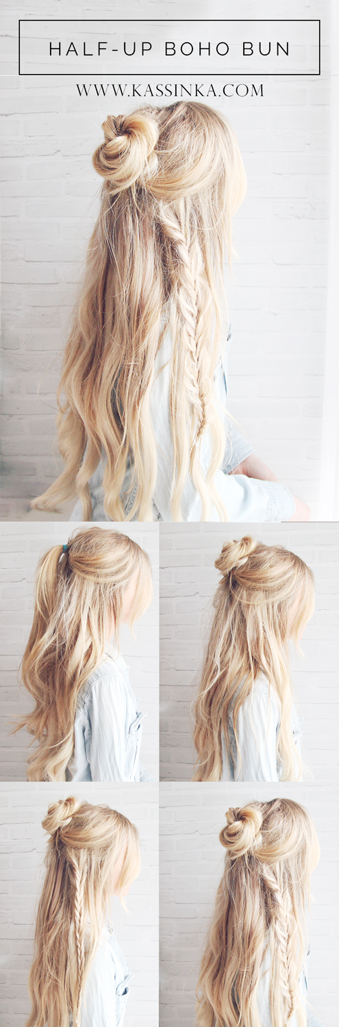 Kassinka-Boho-Bun-Hair-Tutorial