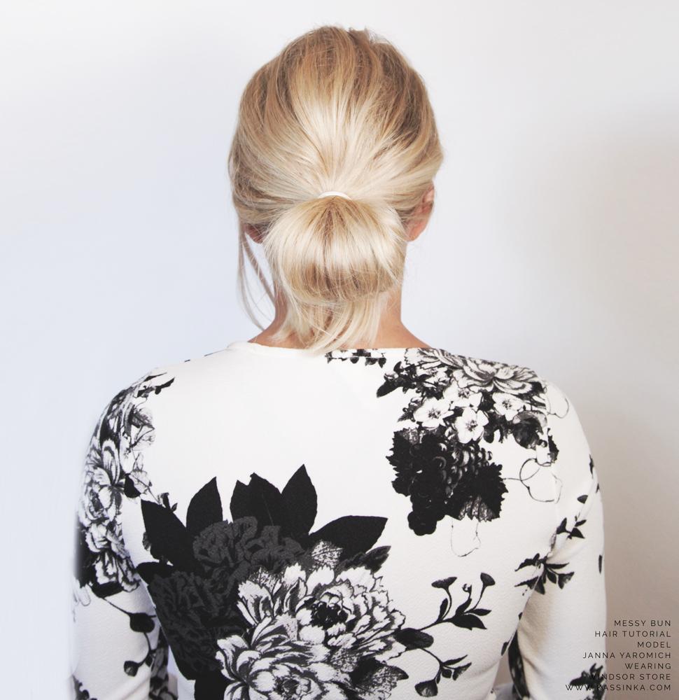 Kassinka-Bun-Tutoiral-For-Shorter-Hair
