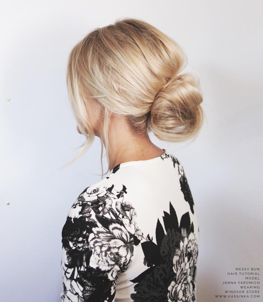 Kassinka-Messy-Bun-For-Short-Hair