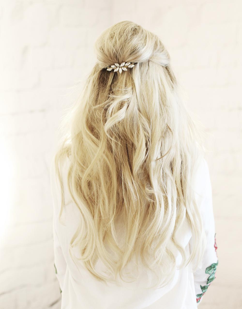 Hollywood Half Up Hair Tutorial With Sc 252 Nci Kassinka