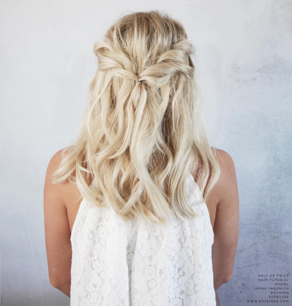 Half Up Twists Tutorial For Short Hair Kassinka